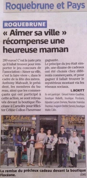 Nice-Matin : Opération fête des mamans!