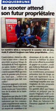Nice-Matin, Mercredi 31 Décembre 2014.
