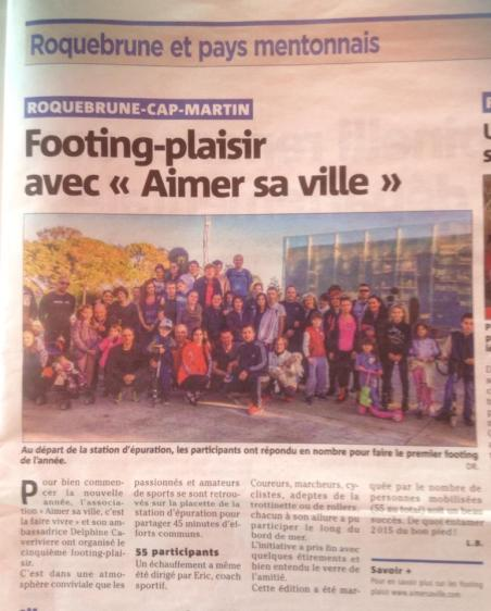Nice-Matin, footing plaisir 2015.