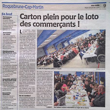 NICE-MATIN, Grand loto des commerçants.