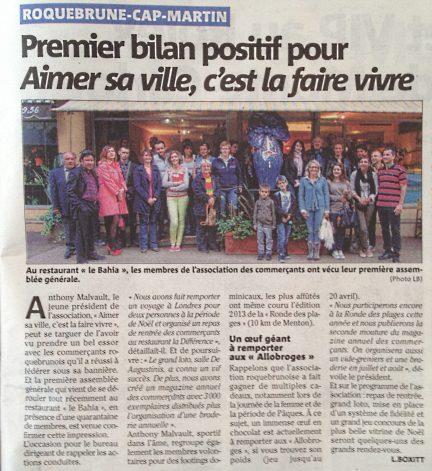 Nice-matin : Assemblée générale 2014