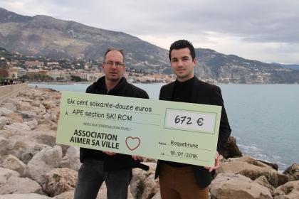 672€ récolté pour l'association APE SKI RCM